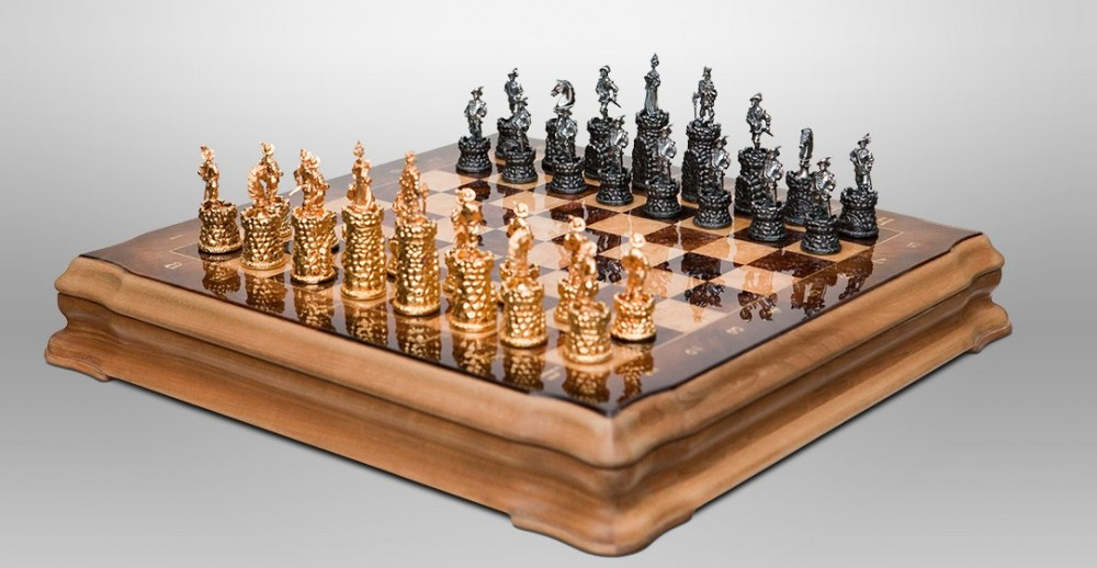 Шахматы «Крепость» (олово)