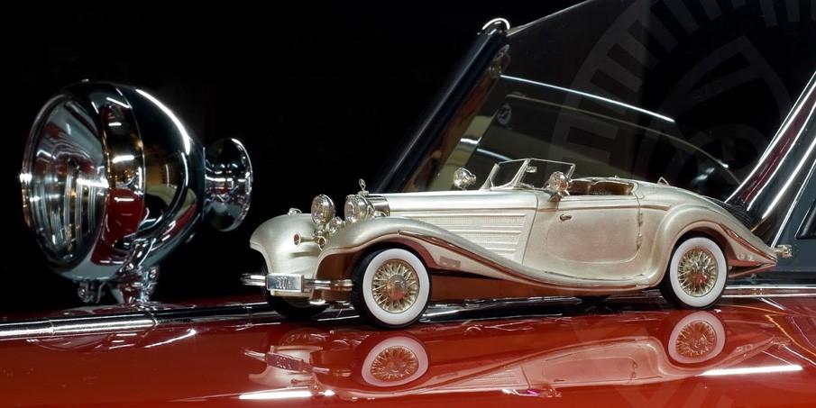 Модель из серебра Mercedes-Benz 500 (1936)