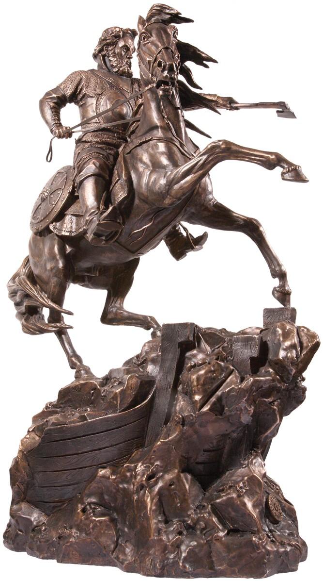 Скульптура Русский воин (h=56 см., бронза)