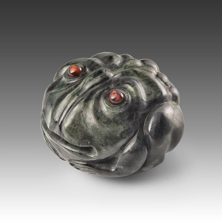 Жаба денежная (сердолик, серебро)