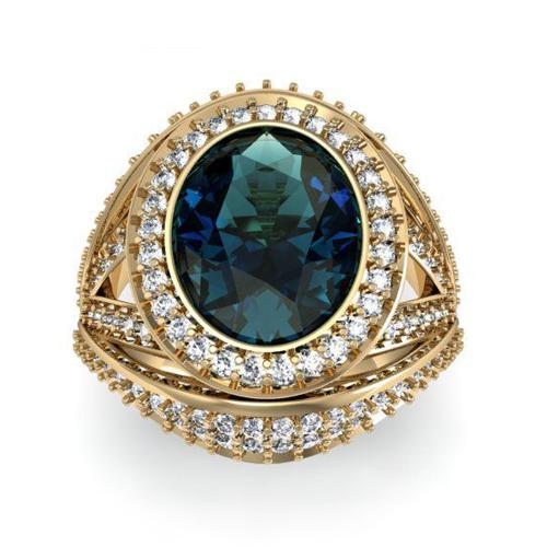 Кольцо с цветными бриллиантами «Bellezza»
