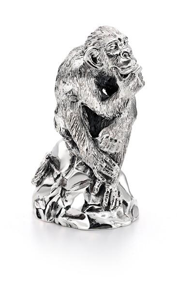 """Серебряная статуэтка """"Мыслитель"""""""