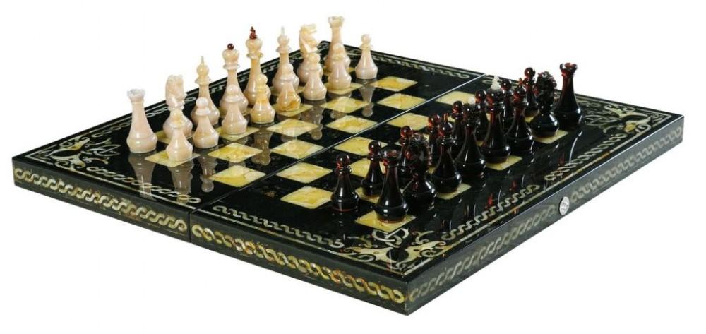 Шахматы из янтаря «Арабески Тина»