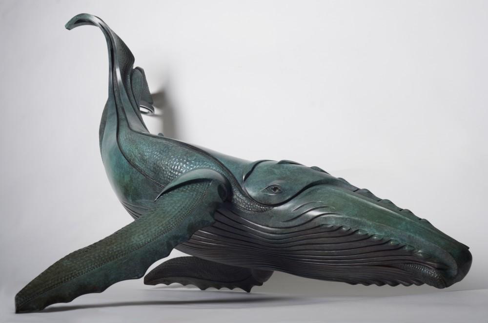 Горбатый кит (бронза, L=1,2 метра)
