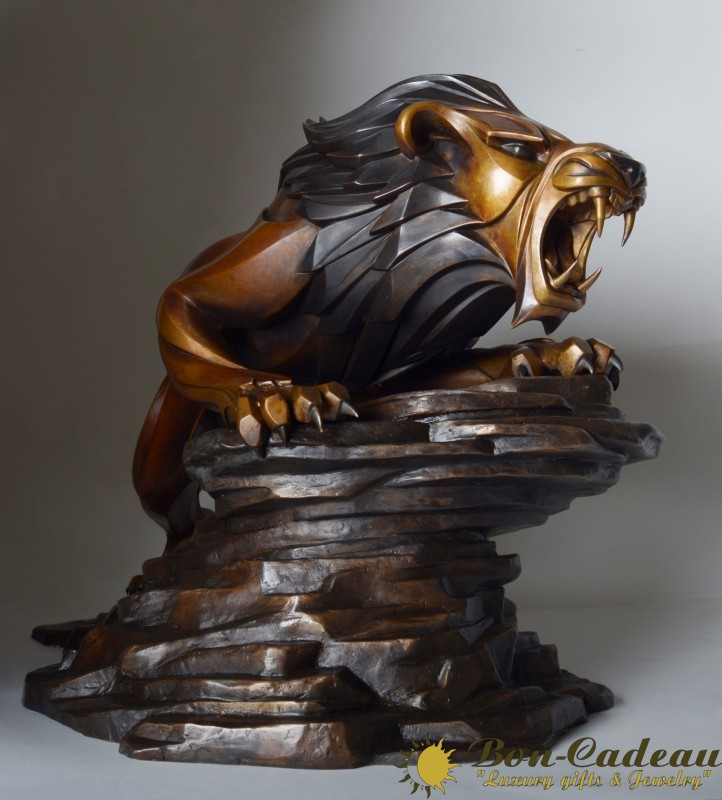 Берберийский лев (бронза, L=60 см)