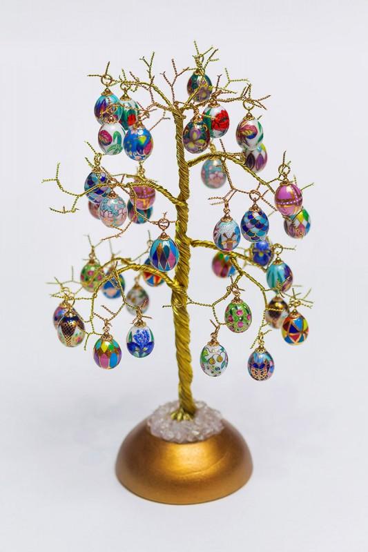 Дерево с кулонами (фарфор, бронза)