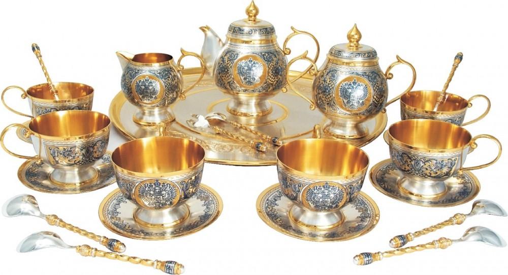 Чайный набор Держава (серебро)