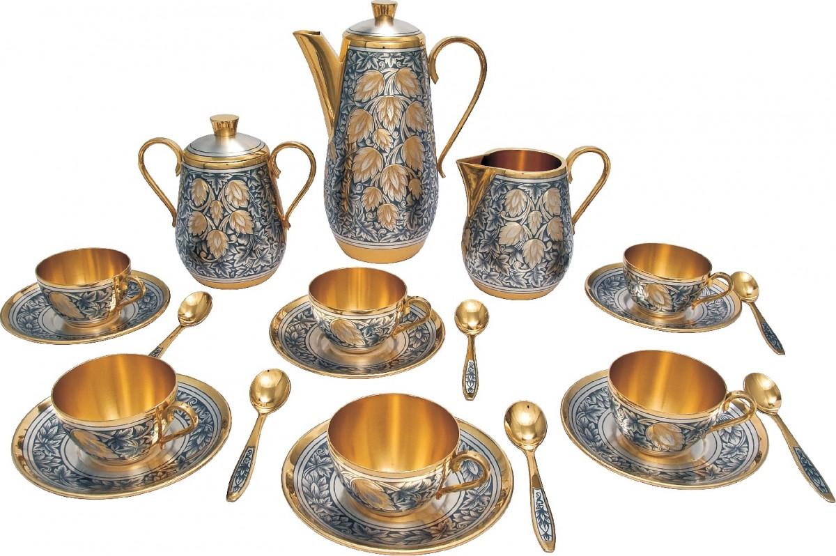 Кофейный набор Хмельной (серебро)