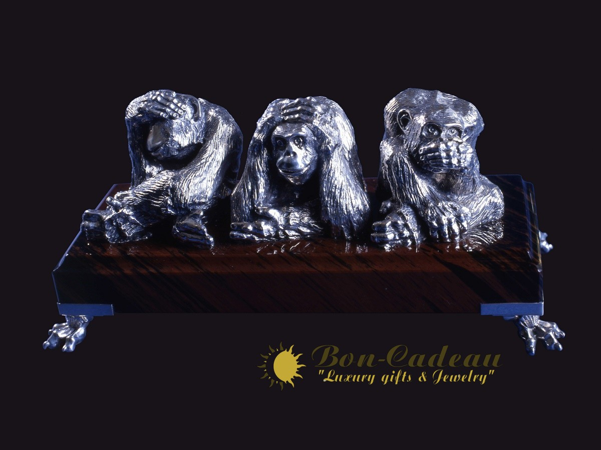Три обезьяны (серебро)