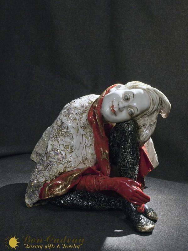 Кукла Паяц (фарфор) h=25 см