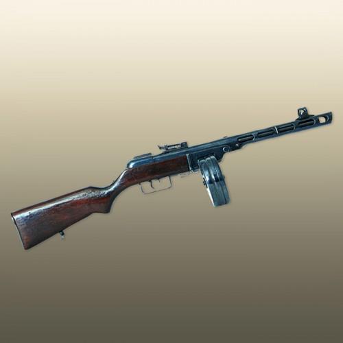 Стреляющий Пистолет-пулемет Шпагина 1:3