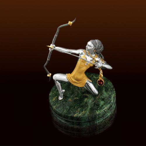 Эротический подарок стрельцу (серебро, гранат)