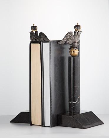 Книжные упоры Держава (серебро)