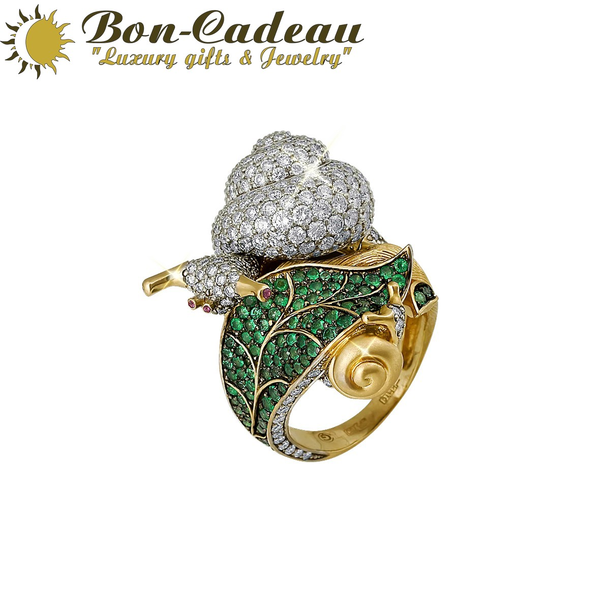 Кольцо Улитка (бриллианты 4,5ct)