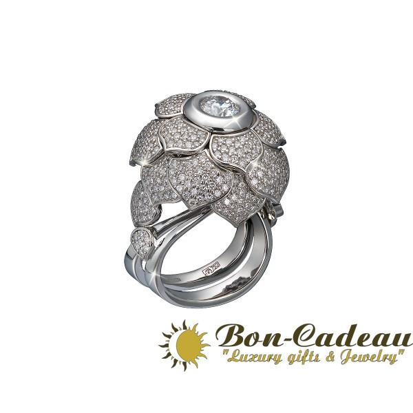 Кольцо «Белый лотос»