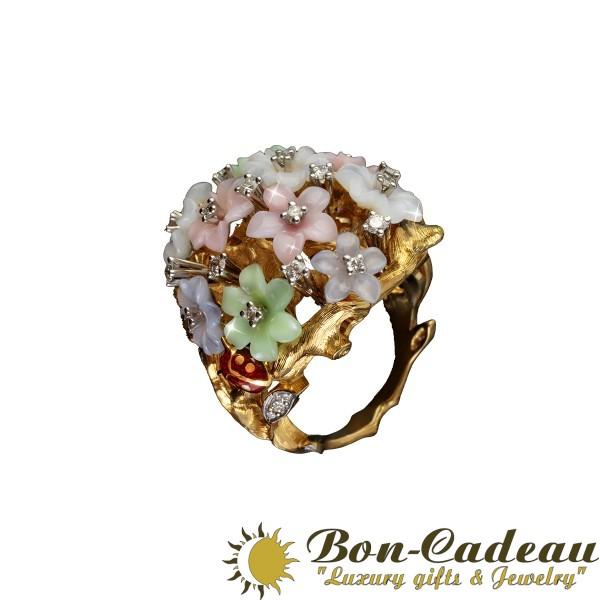 Кольцо «Цветочная фантазия»