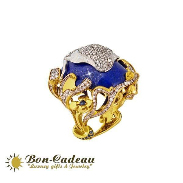 Кольцо «Скат» (лазурит 49 ct)