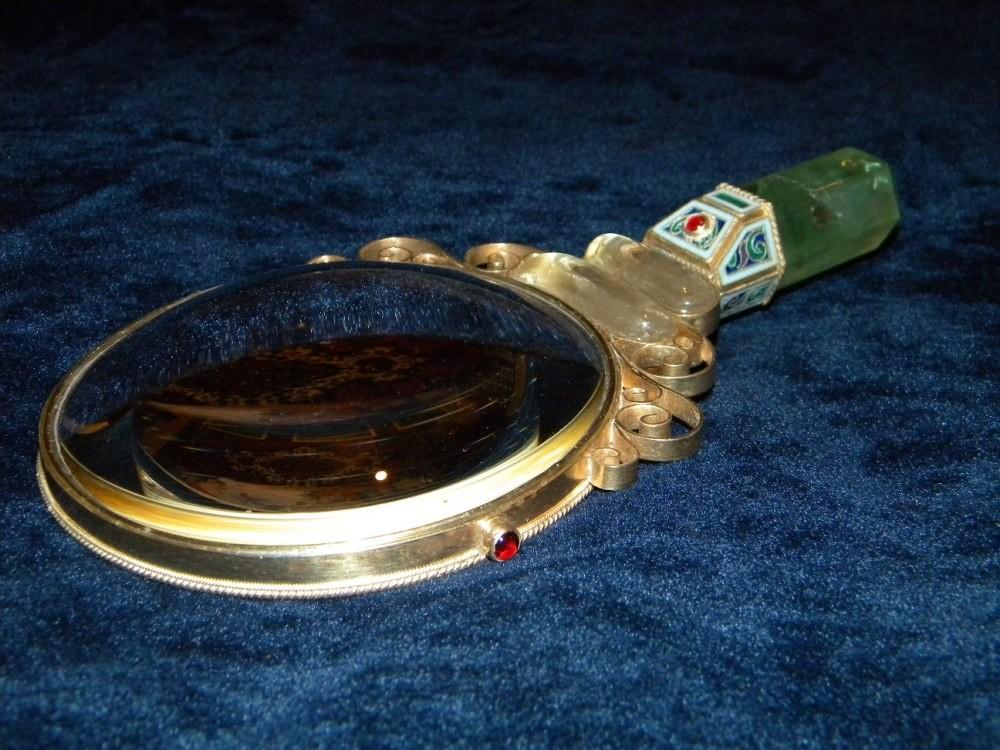 Ювелирная лупа из серебра