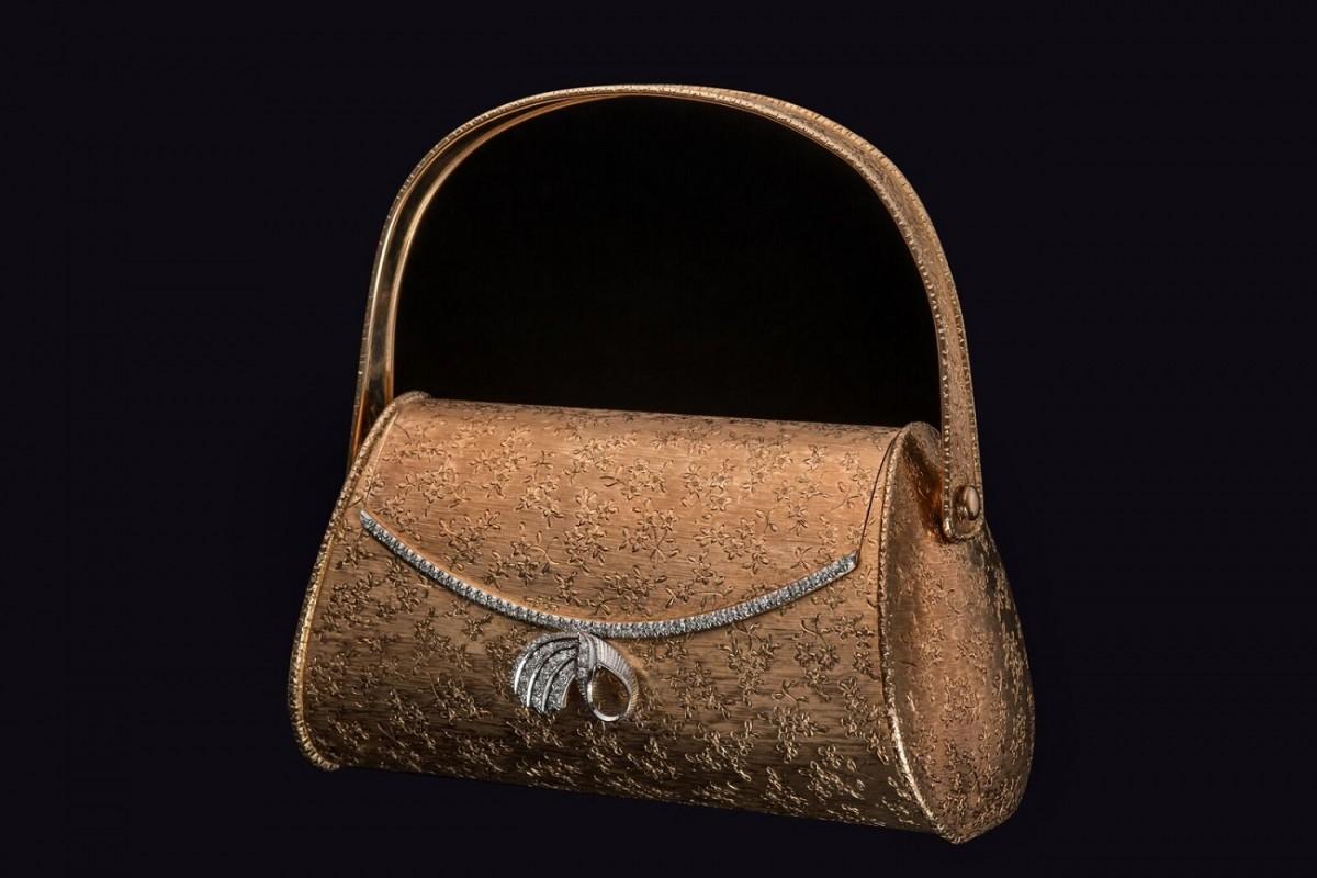Антикварный клатч Boucheron из розового золота