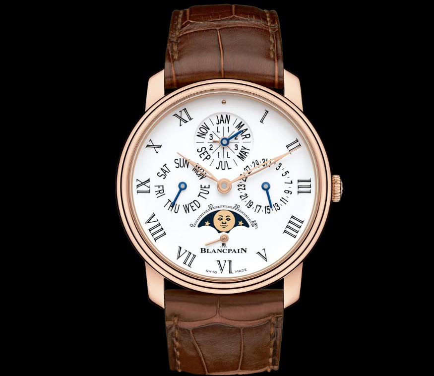 Blancpain Villeret Quantieme Perpetual 8 Days Automatic Mens Watch