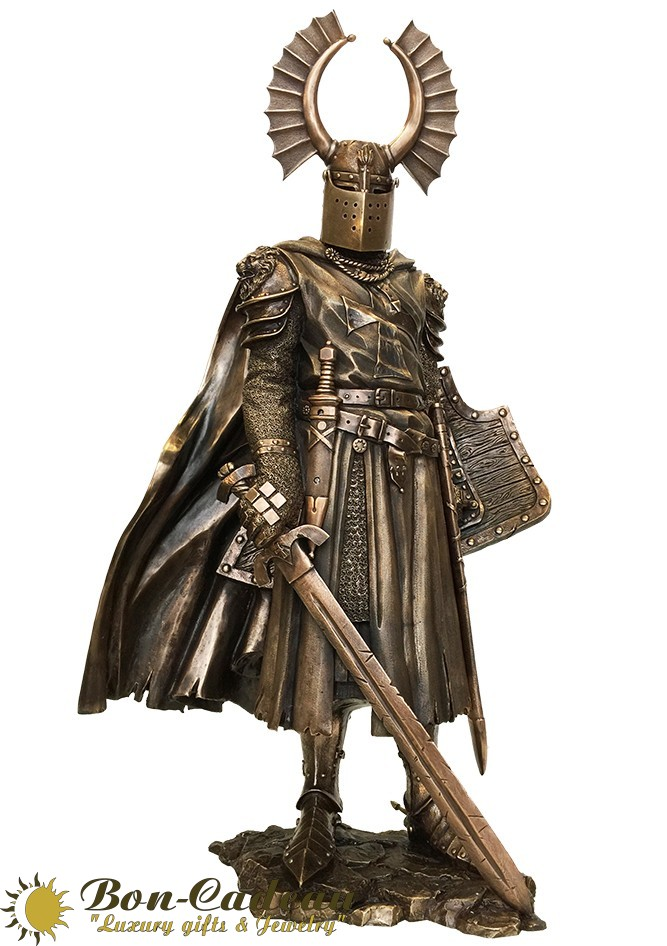 Скульптура из бронзы Крестоносец (64 см)