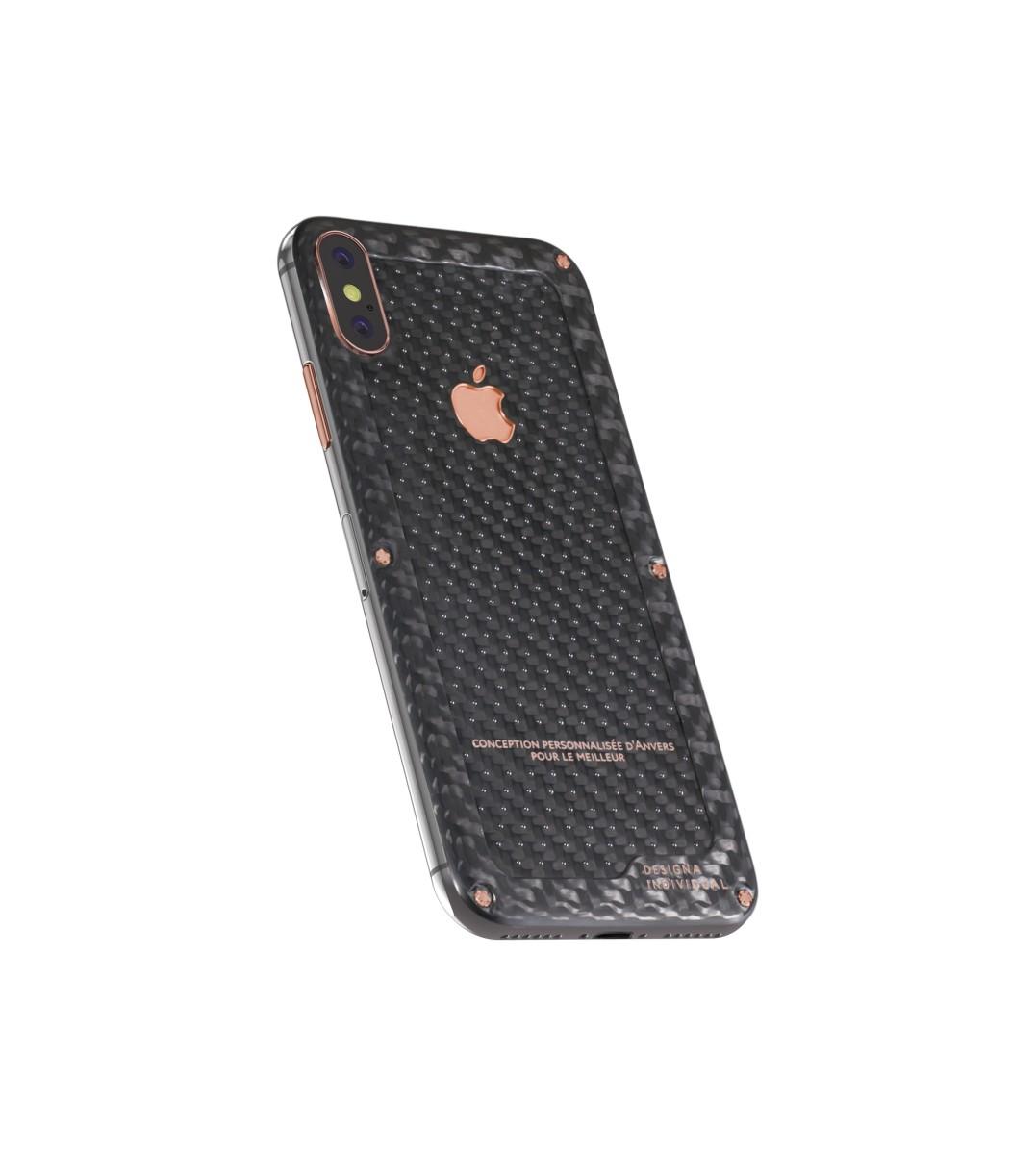 iPhone X Carbon Boss Rose Gold