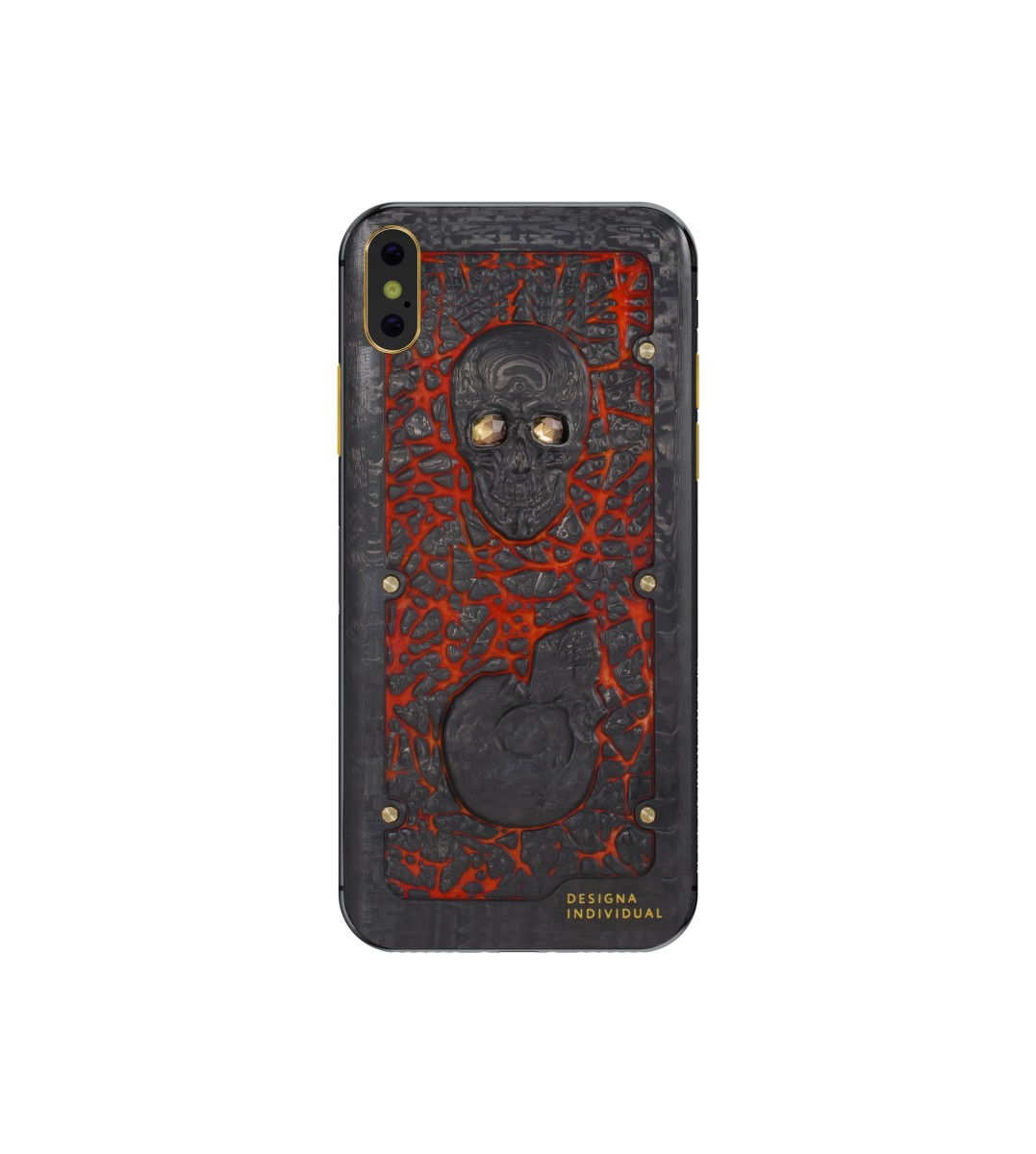 iPhone X Carbon Boss Lava Skull