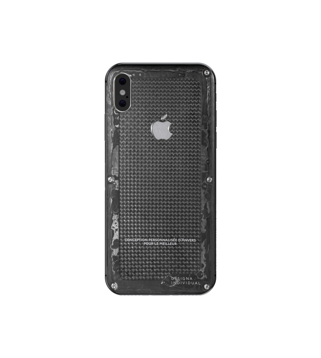 iPhone X Carbon Boss White Gold