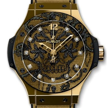 Hublot Big Bang Broderie Yellow Gold