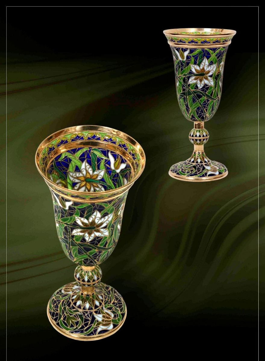 Бокал Нарцисс (серебро, эмаль)