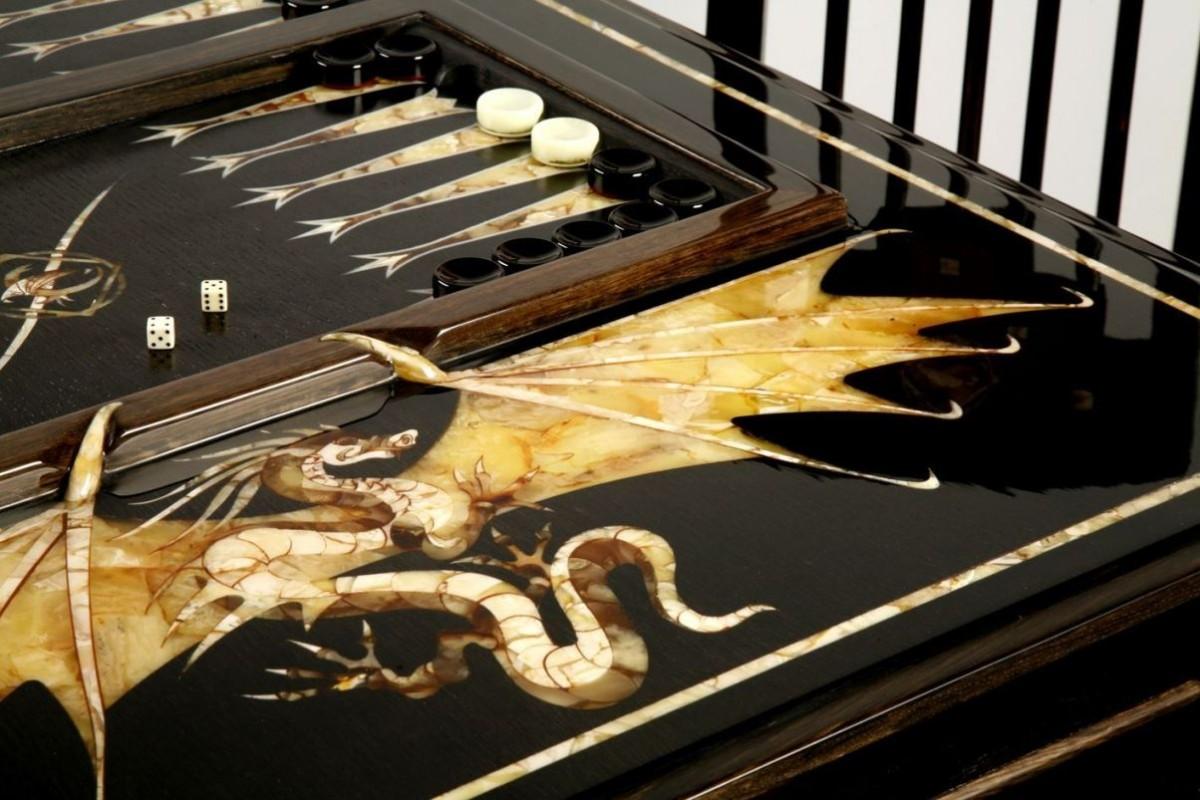 Стол для игры в нарды Драконы