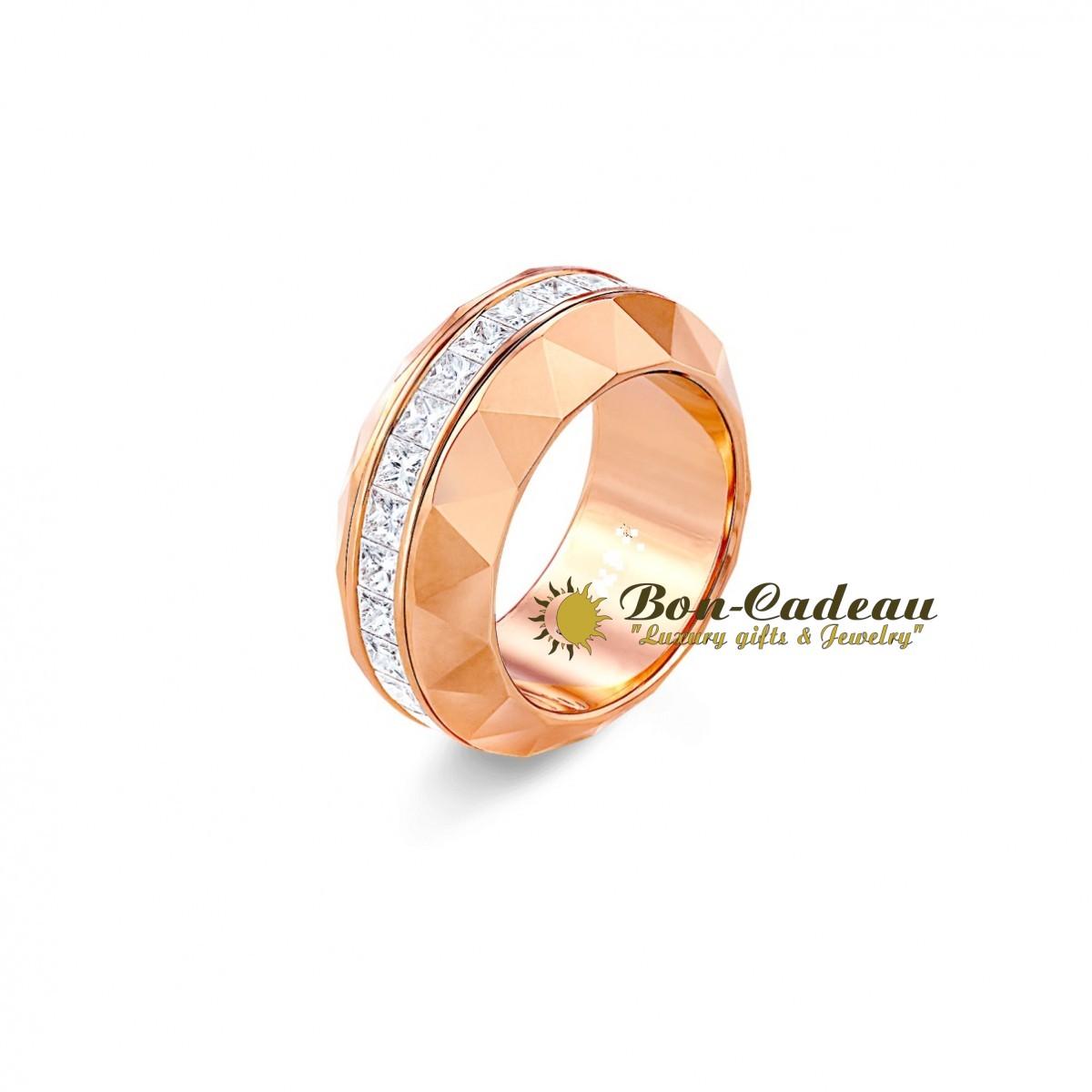 Вращающееся кольцо с бриллиантовой дорожкой