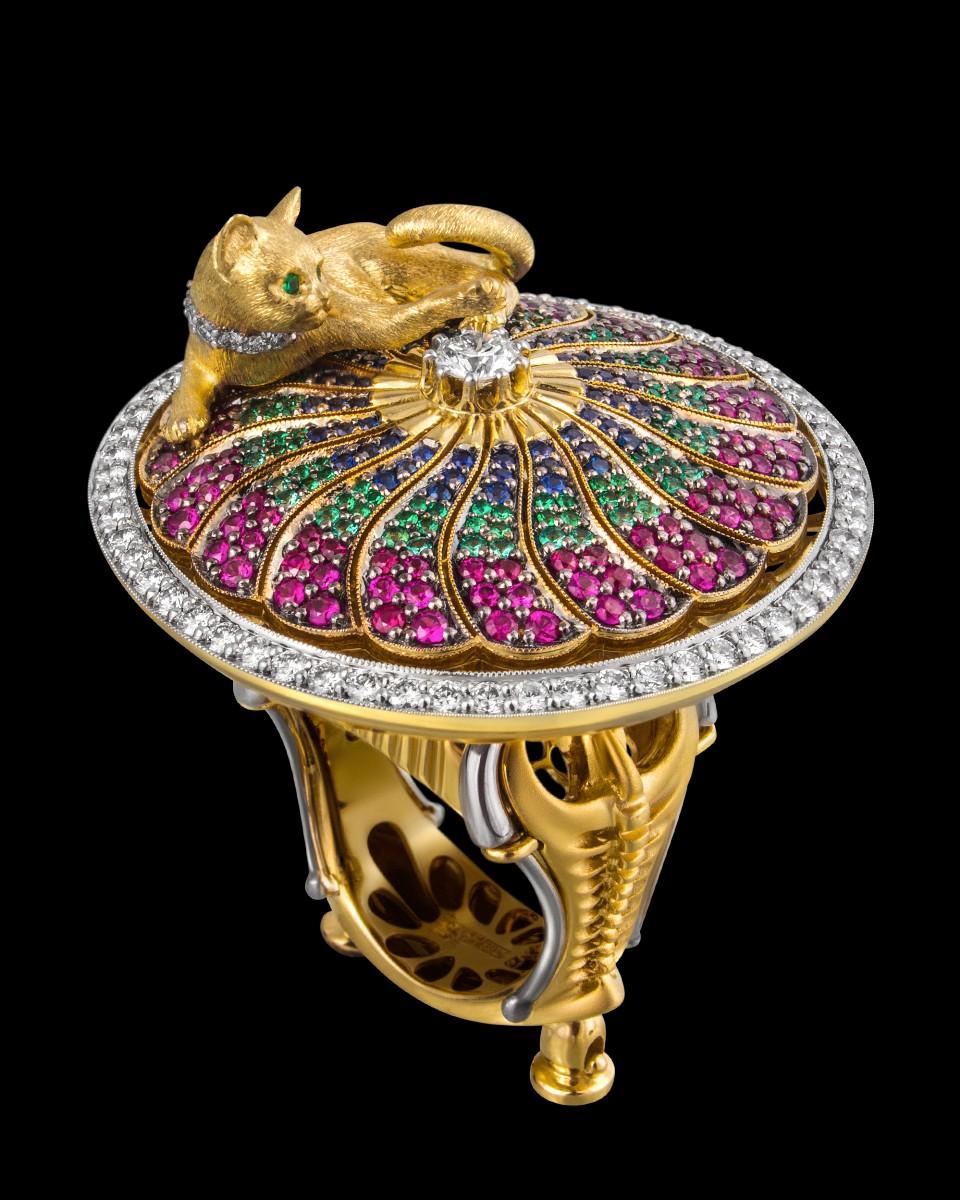 Кольцо «Королевская кошка Сиама»
