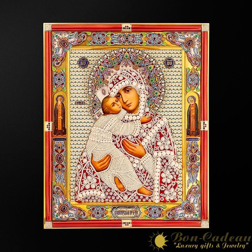 Драгоценная икона Владимирская (34 см)