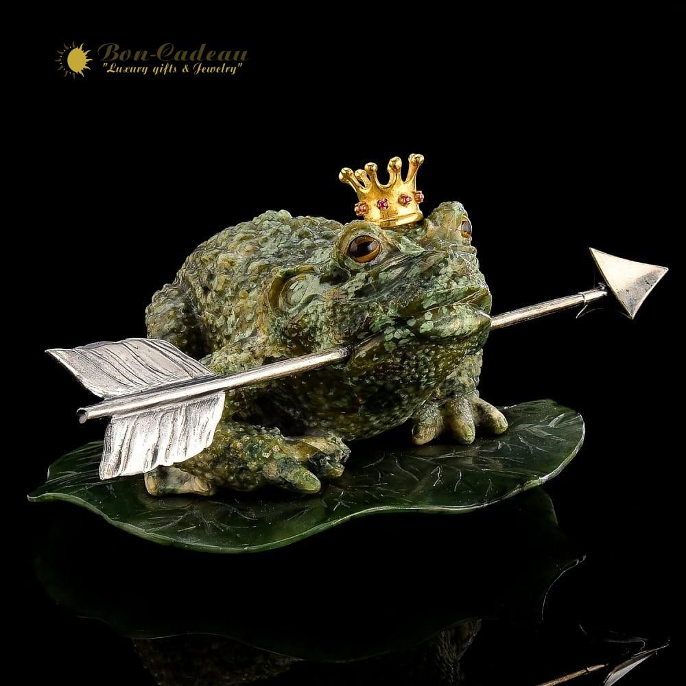 Царевна-лягушка (нефрит, бронза)