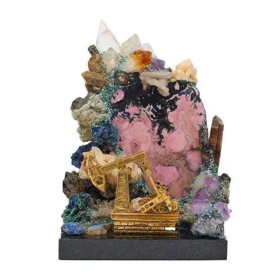 Интерьерный сувенир «Самоцветная горка с качалкой»