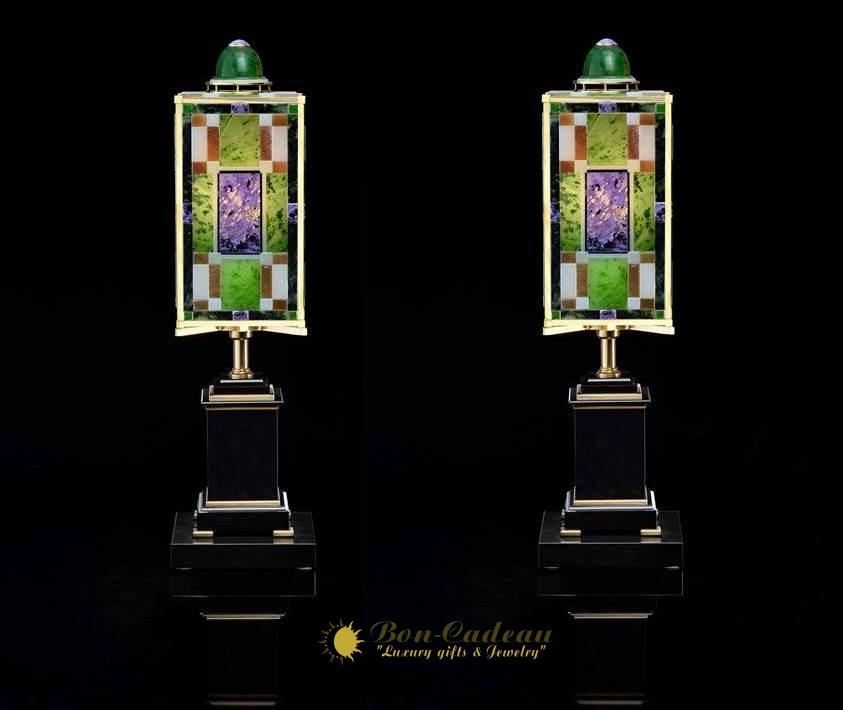 Два светильника из самоцветов