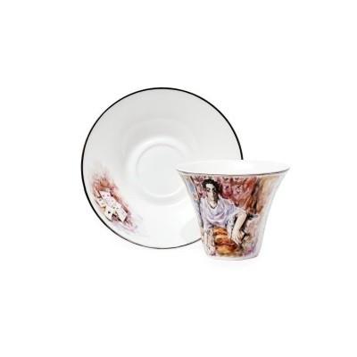 Чайная пара по картине М.Врубеля «Гадалка»