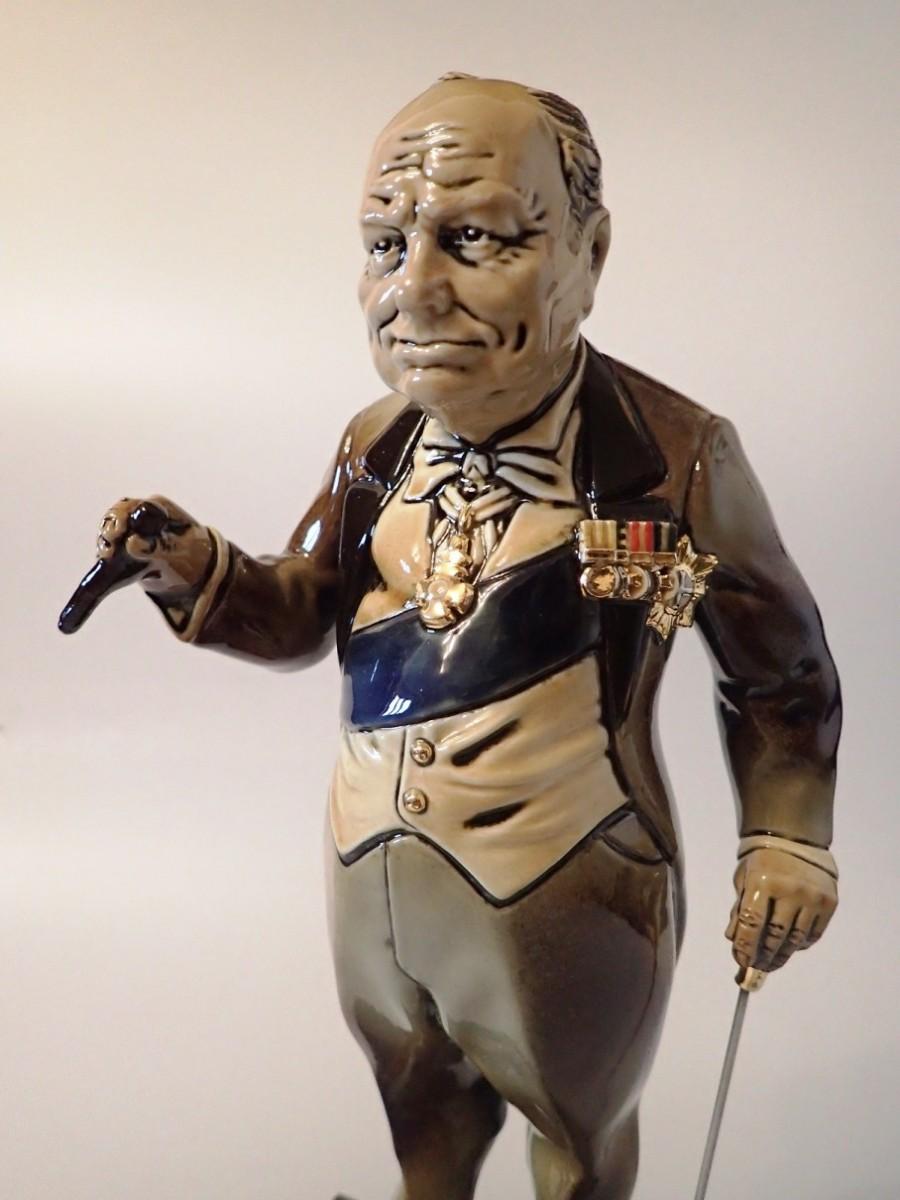 Статуэтка Уинстон Черчилль h=44 см (фарфор)