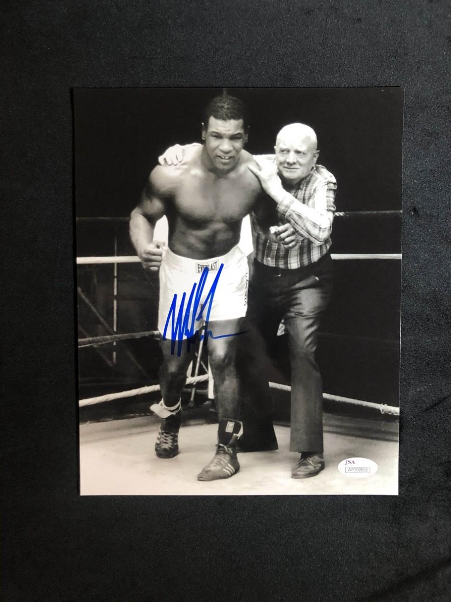 Автограф Майк Тайсон (фото с тренером)