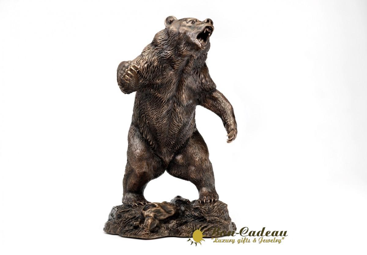 Медведь из бронзы (h=33см)