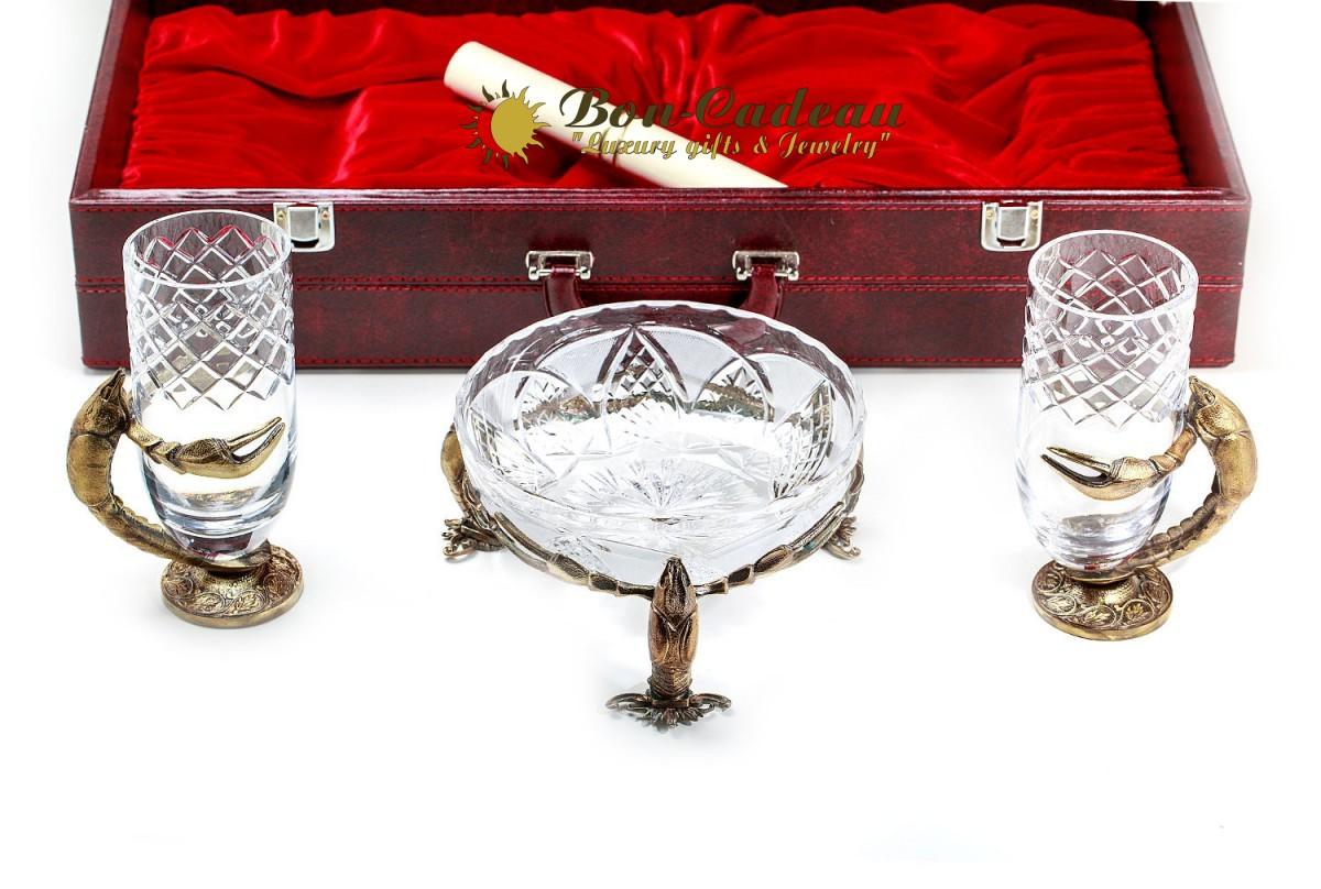 Набор Раки ваза и 2 кружки для пива