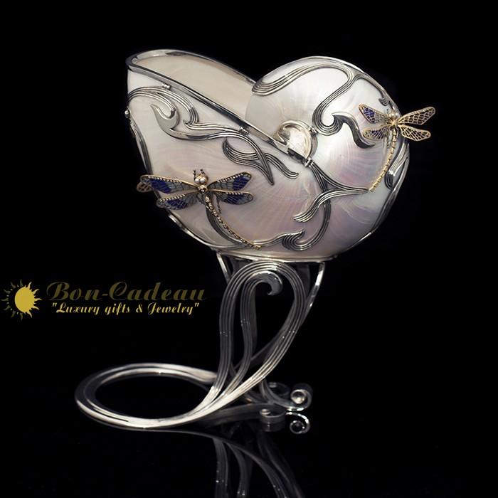 Кубок Стрекозы (Nautilus, серебро, h=30 см)