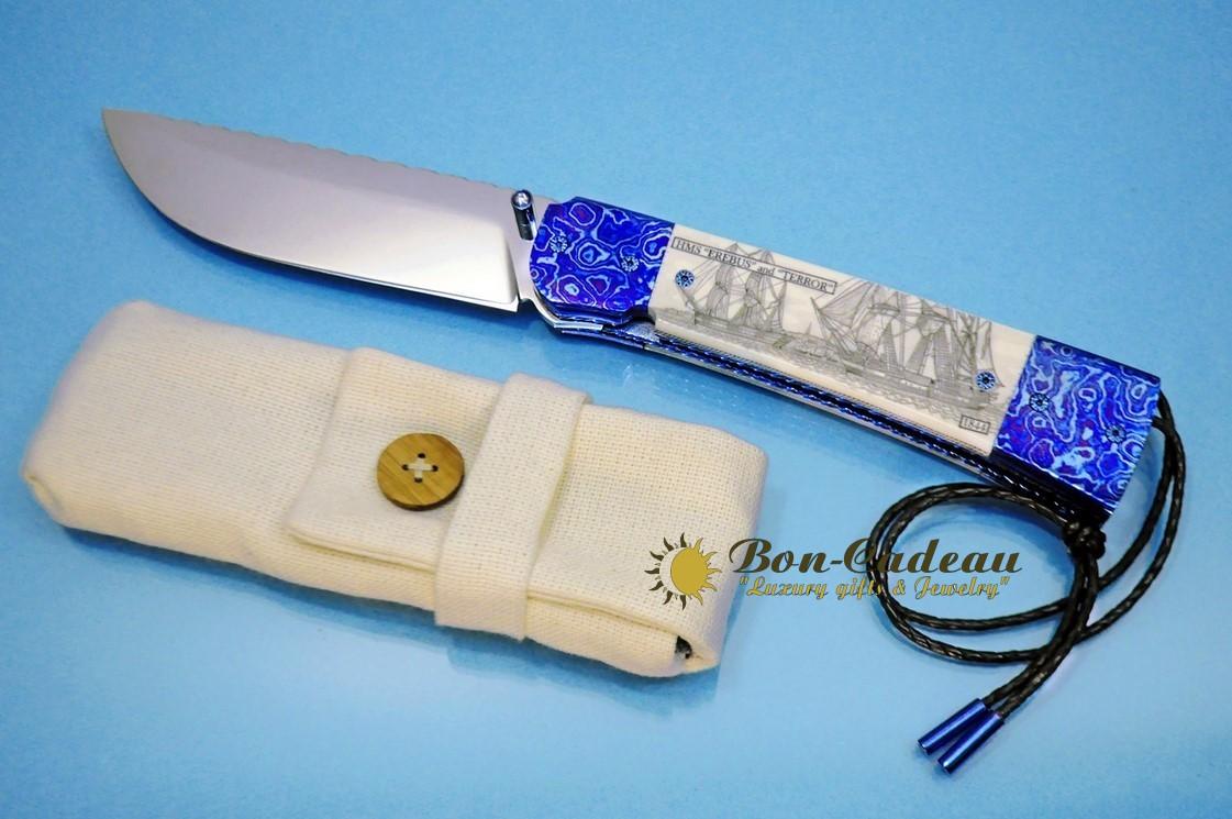 Складой нож Пропавшая экспедиция (морж, тимаскус)