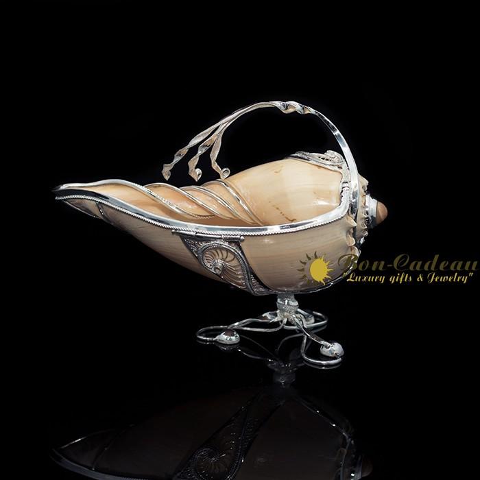 Соусник Царский (серебро, морская раковина)