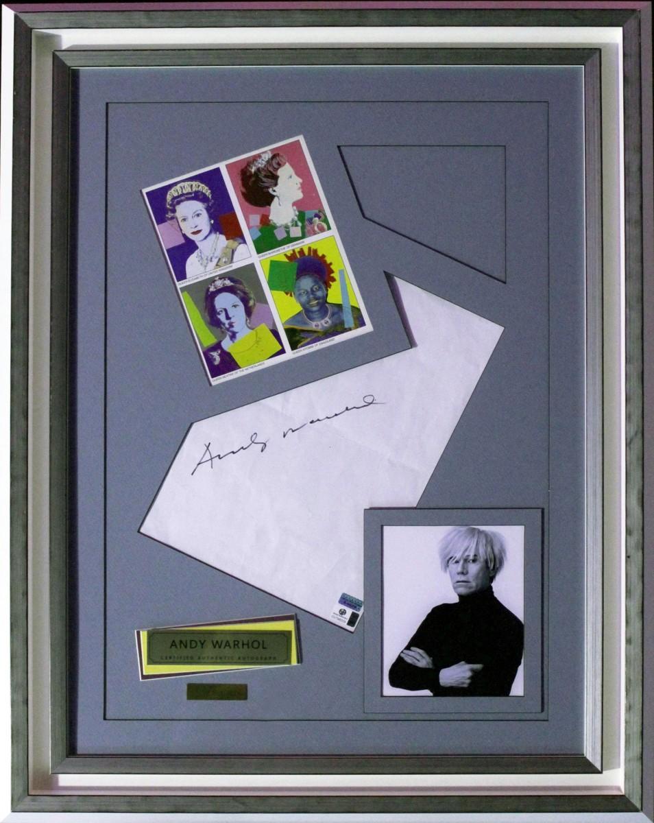 Энди Уорхол (автограф в рамке)