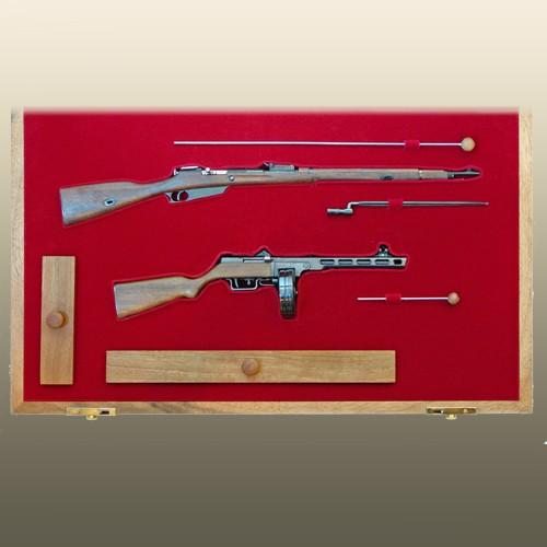 Набор винтовка Мосина и ППШ (1:4)