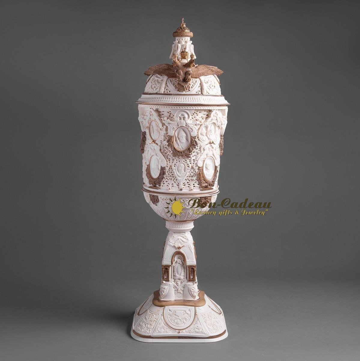 Кубок Цари и императоры России (бивень, золото)