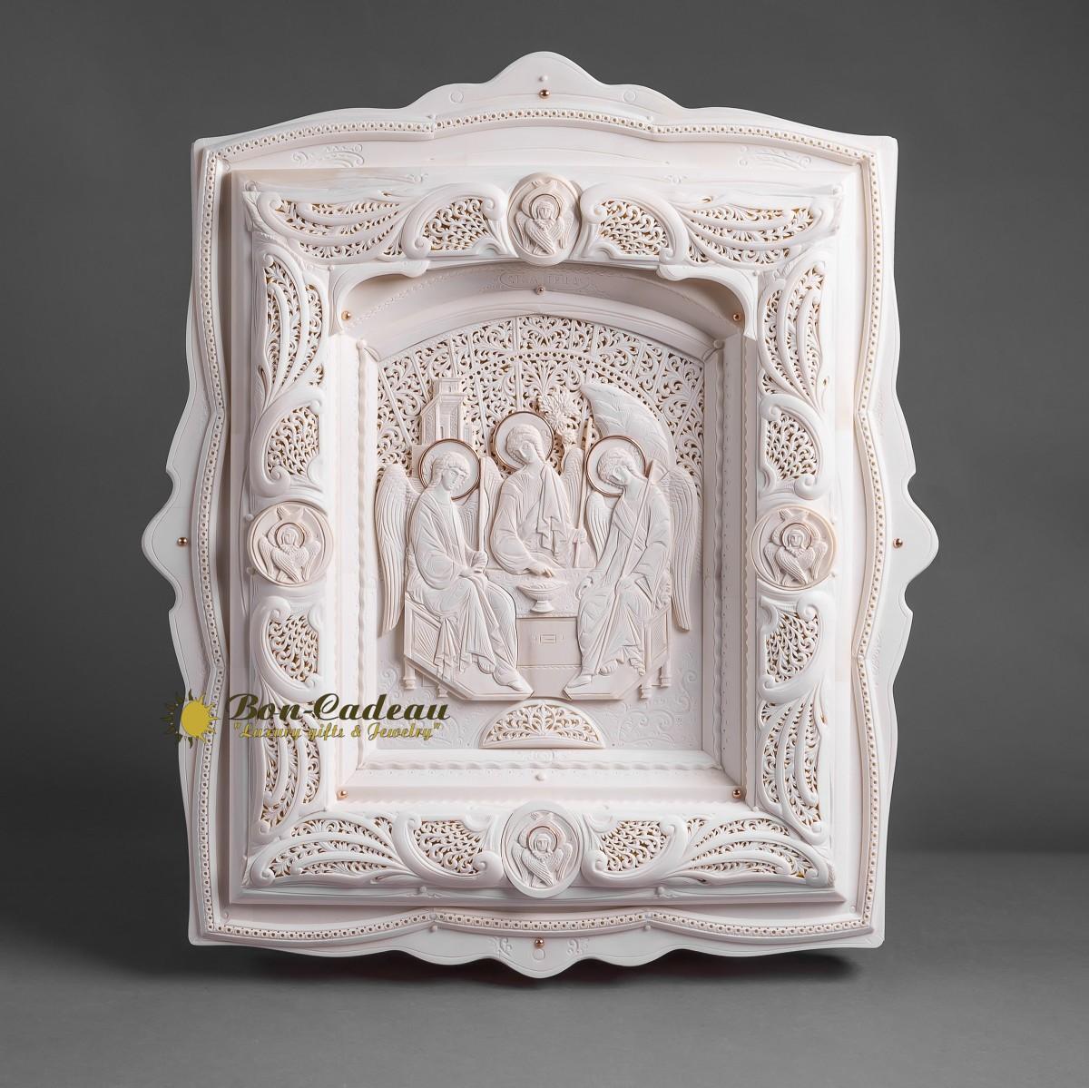 Икона Святая Троица (бивень мамонта)