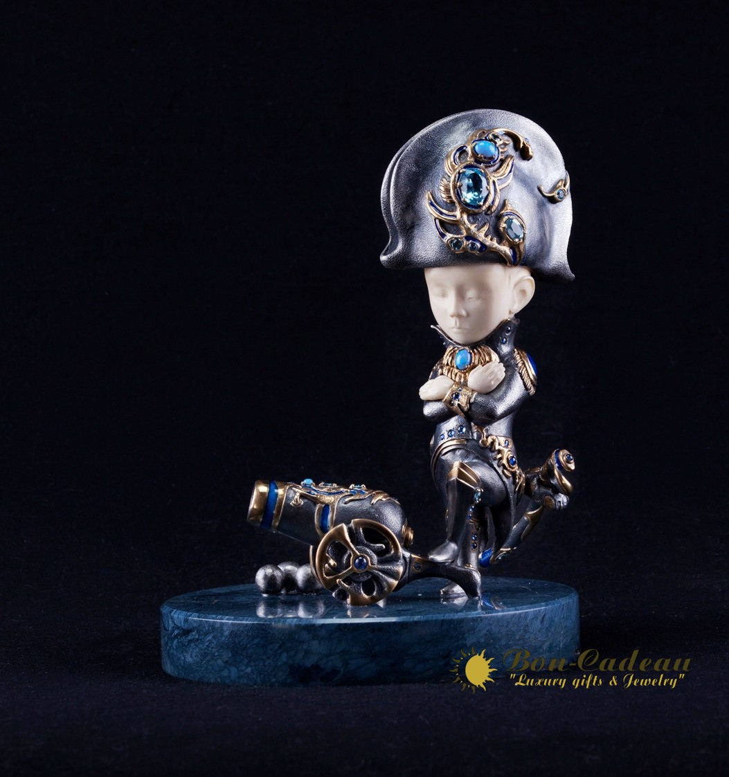 Маленький Наполеон (серебро, бриллианты, h=19 см)